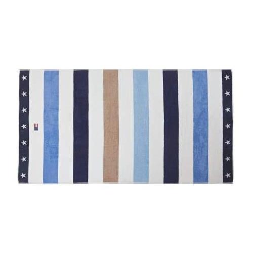 Tovallola Lexington Striped Beach Towel Blue