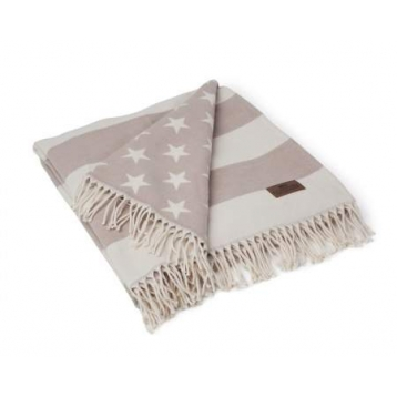 Flassada Beige Lexington Flag Throw