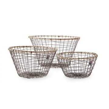 Cistella Rodona de color Marro Lexington Wire Basket