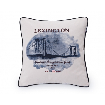 Funda de cojín Lexington Bridge crema