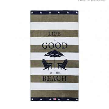 Toalla de Playa Lexington graphic gris
