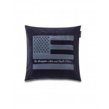 Funda de Coixi Lexington Arts & Crafts Blau Velvet