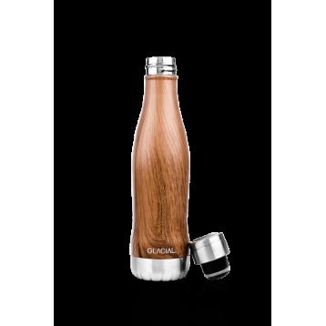 Botella madera de teca