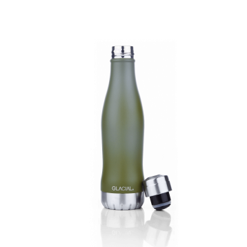 Botella verde mate